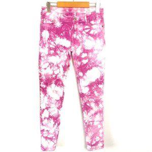 Buffalo Jilian Low Rise Skinny Jeans Tie Dye Pink